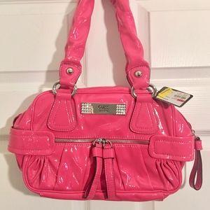 NWT Guess hot pink shoulder bag purse patent